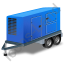 Ultra Silent Generator Trailer Blue Icon, PNG/ICO, 64x64