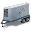 Ultra Silent Generator Trailer Grey Icon, PNG/ICO, 64x64