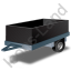 Utility Trailer Black Icon