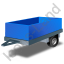 Utility Trailer Blue Icon