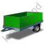 Utility Trailer Green Icon