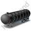 Waste Tanker Trailer Black Icon, PNG/ICO, 64x64