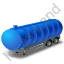 Waste Tanker Trailer Blue Icon