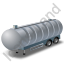 Waste Tanker Trailer Grey Icon