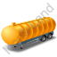Waste Tanker Trailer Yellow Icon, PNG/ICO, 64x64