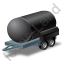 Water Bowser Trailer Black Icon, PNG/ICO, 64x64