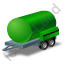 Water Bowser Trailer Green Icon, PNG/ICO, 64x64