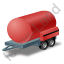 Water Bowser Trailer Red Icon, PNG/ICO, 64x64