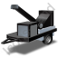 Wood Chipper Black Icon