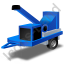 Wood Chipper Blue Icon