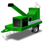Wood Chipper Green Icon