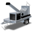 Wood Chipper Grey Icon