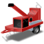 Wood Chipper Red Icon