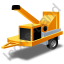 Wood Chipper Yellow Icon