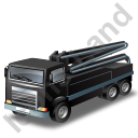 Concrete Pump Black Icon