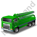 Concrete Pump Green Icon