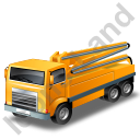 Concrete Pump Yellow Icon