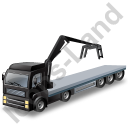 Flatbed Truck Loader Crane Head Black Icon, PNG/ICO, 128x128