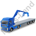 Flatbed Truck Loader Crane Head Blue Icon