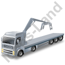 Flatbed Truck Loader Crane Head Grey Icon