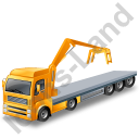 Flatbed Truck Loader Crane Head Yellow Icon