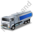 Fuel Tank Truck Blue Icon