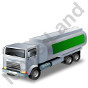 Fuel Tank Truck Green Icon
