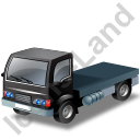 Lorry Cab Black Icon, PNG/ICO, 128x128