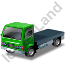 Lorry Cab Green Icon, PNG/ICO, 128x128