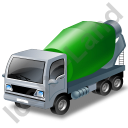 Mixer Truck 2 Green Icon, PNG/ICO, 128x128