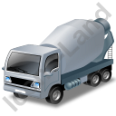 Mixer Truck Grey Icon, PNG/ICO, 128x128