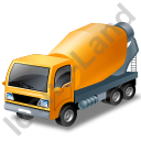 Mixer Truck Yellow Icon, PNG/ICO, 128x128