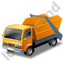 Skip Truck Yellow Icon, PNG/ICO, 128x128