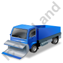 Snow Plow Truck Blue Icon