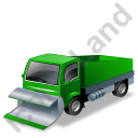 Snow Plow Truck Green Icon, PNG/ICO, 128x128