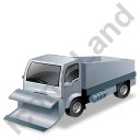 Snow Plow Truck Grey Icon