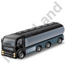 Tanker Truck Black Icon