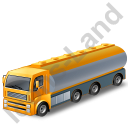 Tanker Truck Yellow Icon