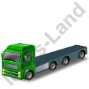 Tractor Flatbed Trailer Green Icon
