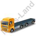 Tractor Flatbed Trailer Yellow Icon