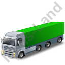 Tractor Trailer 2 Green Icon, PNG/ICO, 128x128