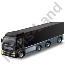 Tractor Trailer Black Icon