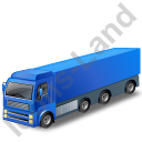Tractor Trailer Blue Icon