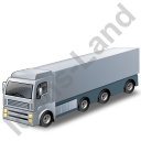 Tractor Trailer Grey Icon, PNG/ICO, 128x128