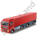 Tractor Trailer Red Icon, PNG/ICO, 128x128