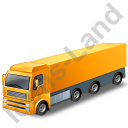 Tractor Trailer Yellow Icon, PNG/ICO, 128x128