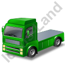Tractor Unit Green Icon, PNG/ICO, 128x128