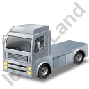 Tractor Unit Grey Icon