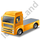 Tractor Unit Yellow Icon, PNG/ICO, 128x128