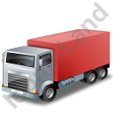 Truck Red Icon, PNG/ICO, 128x128